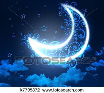 夜晚天空, 背景;