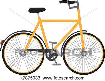 手绘图 - 自行车. fotosearch