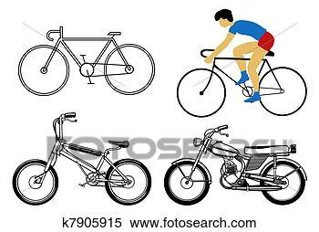 手绘图 - 放置, 自行车