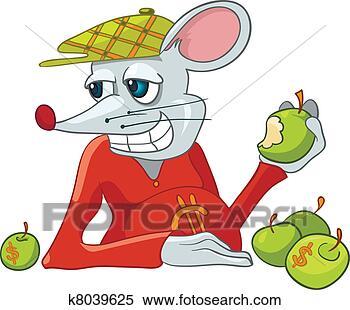 卡通小老鼠背影图片