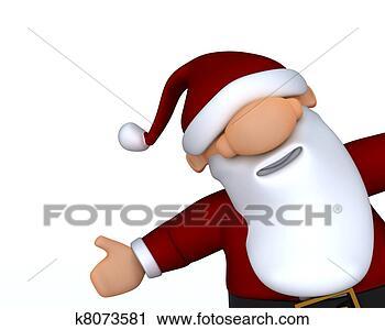 剪贴画 - 漂亮, 圣诞老人