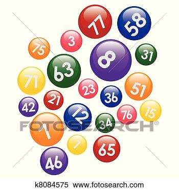 Stock Illustration - lottery balls &#10;with numbers. &#10;fotosearch - search &#10;clipart, illustration &#10;posters, drawings &#10;and vector eps &#10;graphics images