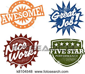 Stock Photo - great job awesome stamps. fotosearch - search stock photos, pictures, wall murals, images, and photo clipart
