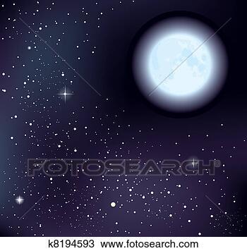 天上星星月亮图片