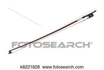 照片 - 小提琴弓, 隔离, 在怀特上 k8221828 - 搜