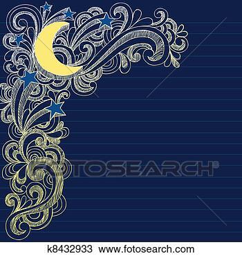 月亮, 星, 夜晚天空