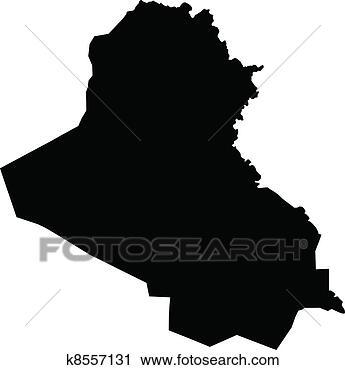 地图, .的, 伊拉克