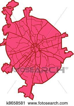 莫斯科, 地图