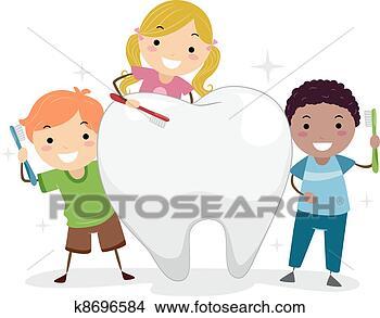 儿童牙齿卡通图