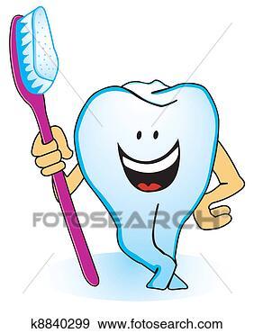 a, 牙齿, 带