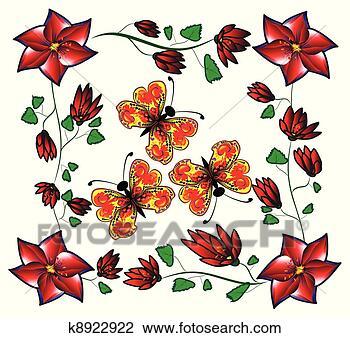 卡通蝴蝶边框图片