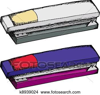 手绘图 - 二, 订书机