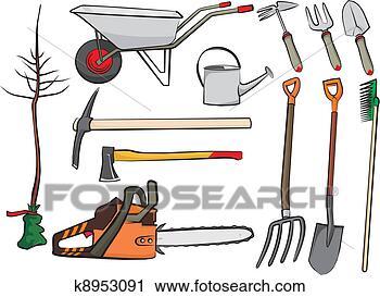 Clipart outils jardinage k8953091 recherchez des clip for Dessin outils jardinage