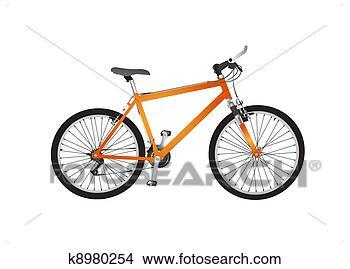 手绘图 - 隔离, 山地自行车
