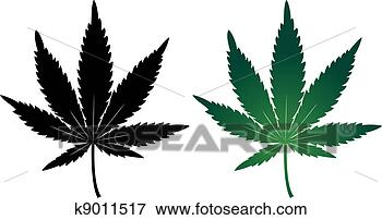 Stock Illustration - Cannabis leaf. Fotosearch - Search EPS Clipart ...