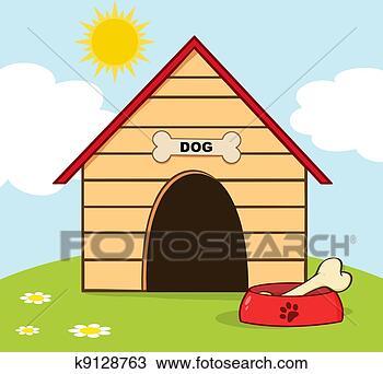 手绘图 - 狗房子, 带,