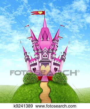 Arquivo Fotográficos - mágico, Cor-de-rosa, castelo. Fotosearch - Busca de Imagens Fotográficas, Cartazes e Fotos Clipart