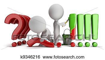 Arquivos de Ilustração - 3d, pequeno, pessoas,  perguntas, respostas.  fotosearch - busca  de imagens de  vetor grã¡fico,  desenhos, clip  art, ilustraã§ãµes