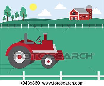 谷仓, 拖拉机