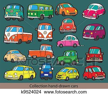卡通汽车绘画图片