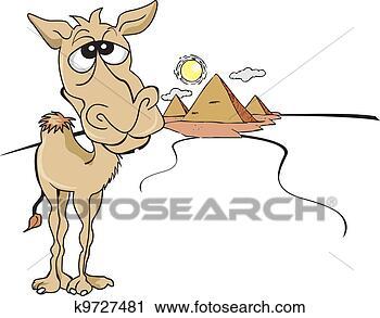 Clipart divertente marrone cammello illustrazione - Soleggiato in inglese ...