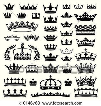 手绘图 - 王冠, 收集