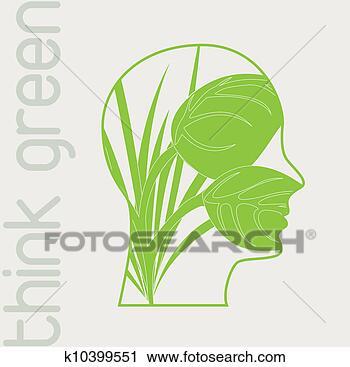 手绘简单绿色边框