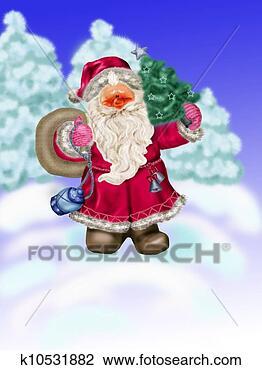 剪贴画 - 圣诞老人, 忍耐