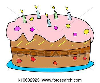 手绘图 - 蛋糕. fotosearch