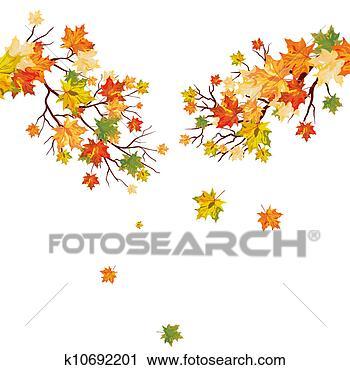画秋天的边框_