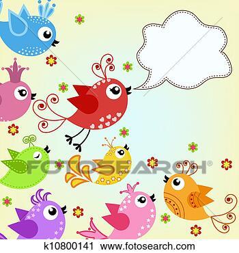 儿童撕贴画人与鸟图片