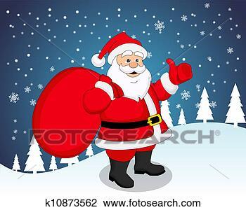 剪贴画 - 圣诞老人, 描述