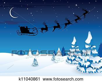 剪贴画 - 矢量, 圣诞老人