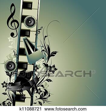 剪贴画 - 音乐, 主题