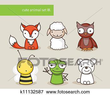 可爱简单动物画