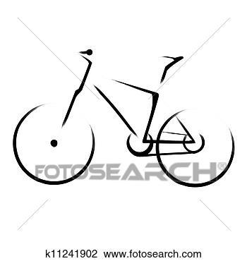 Clip art mountain bicycle bike fotosearch search clipart