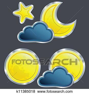夜晚, 带, 月亮