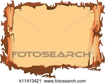 剪贴画 - 老, 纸卷 k11413421