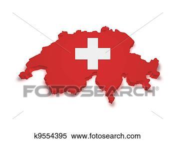 - 瑞士, 地图