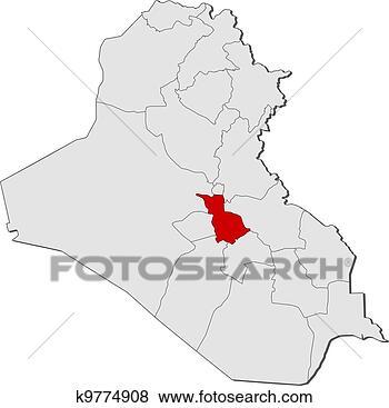 伊拉克行政区划地图