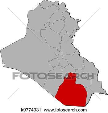 伊拉克详细地图