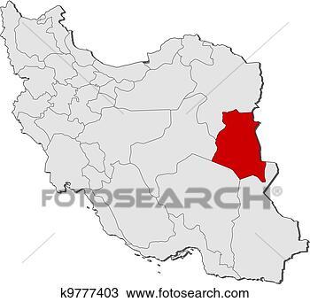 地图, 伊朗,