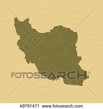 伊朗地图英文版