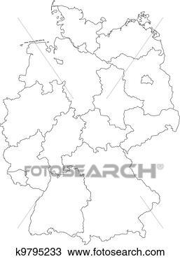 地图, .的, 德国