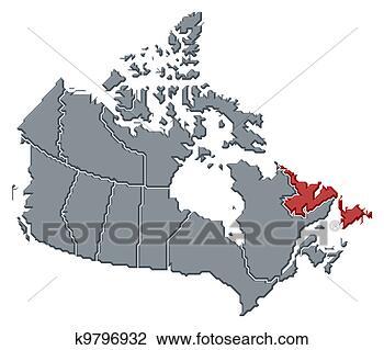 地图, .的, 加拿大