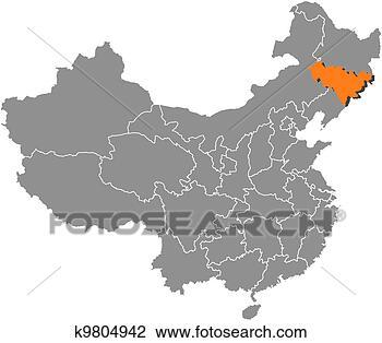 中国地图种子画