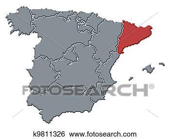 地图, 西班牙