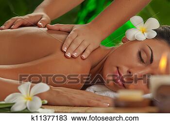 Banco de Imagem - massagem. fotosearch  - busca de fotos,  imagens e clipart