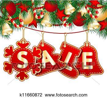 剪贴画 - 圣诞节, 销售