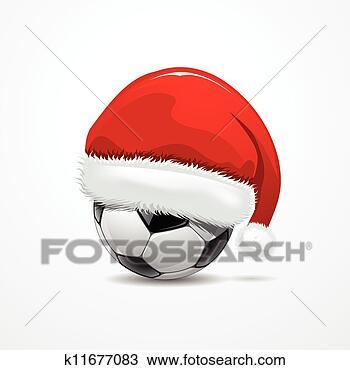 手绘图 - santa帽子, 在上